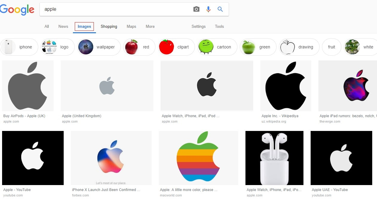 Apple image search