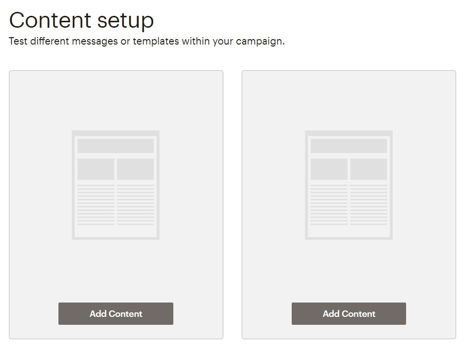 Content setup screenshot