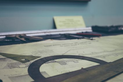 blueprint plans on table
