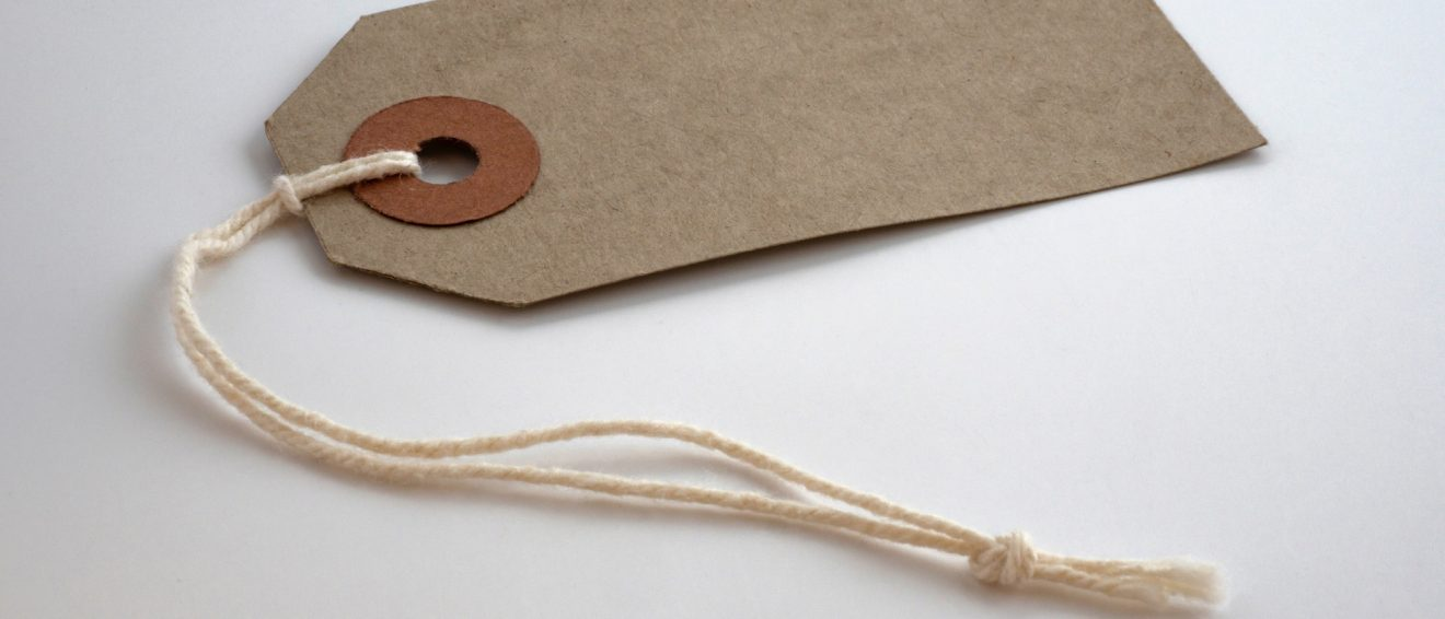 brown paper label