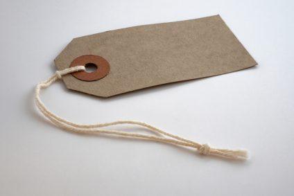 brown paper label