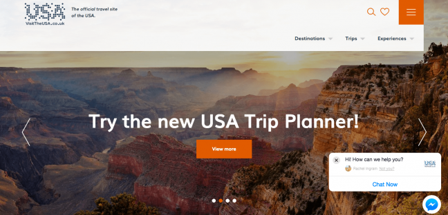 USA trip planner website