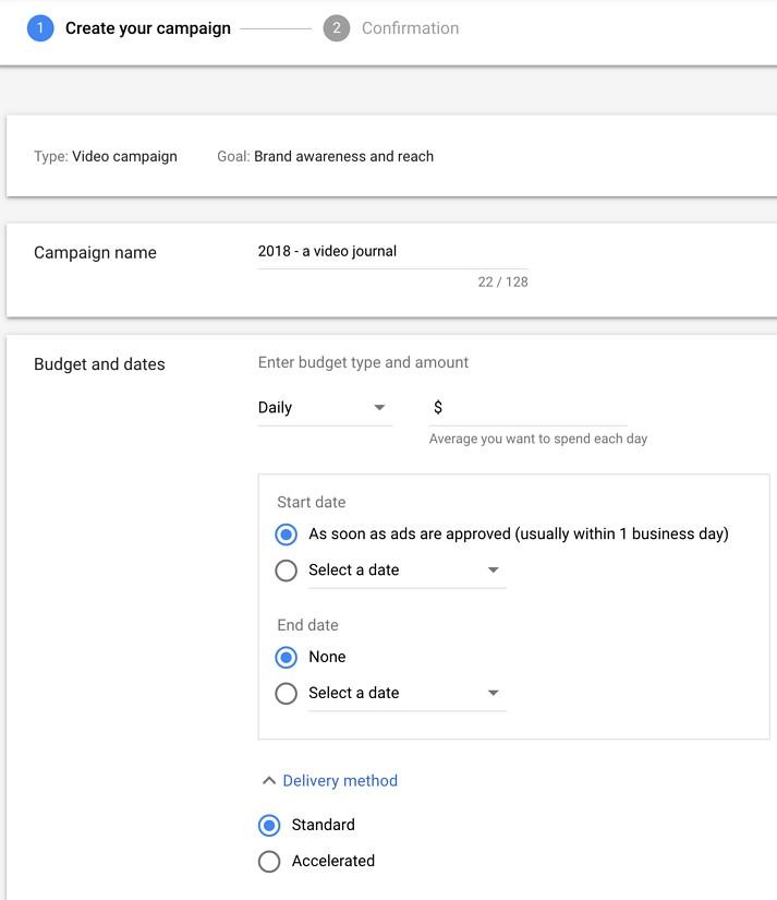 YouTube Ads Budget