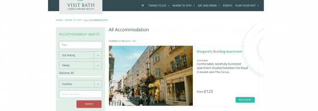 Visit Bath accommodation