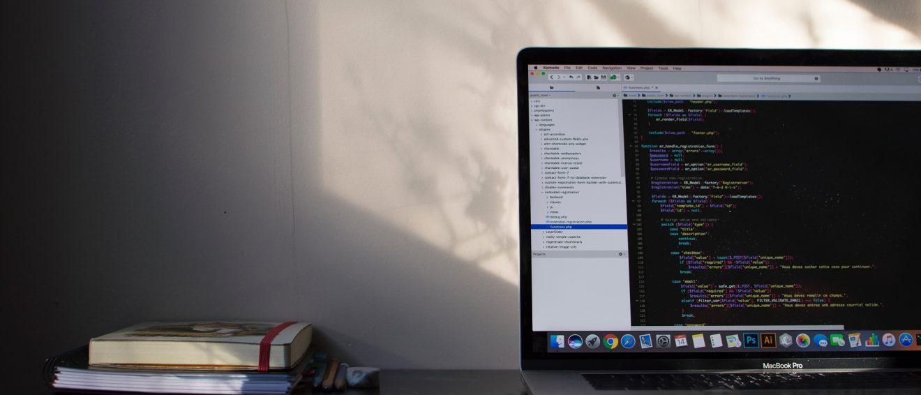 laptop showing code