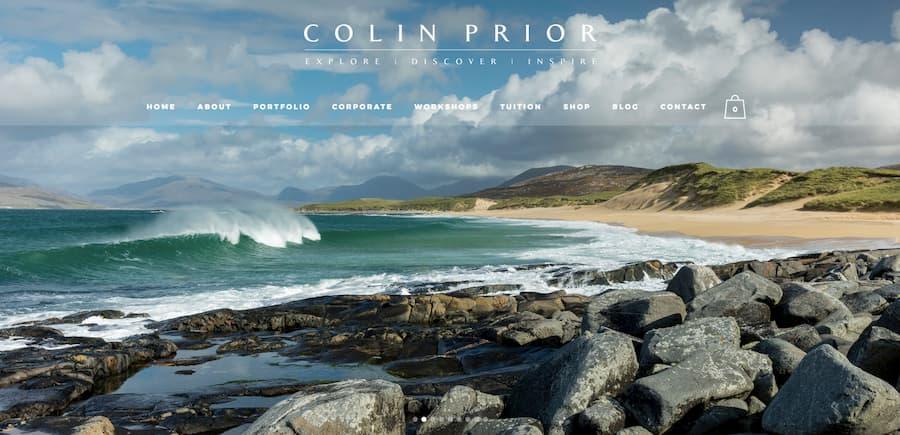 Colin Prior photographer website screenshot