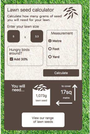 Lawn seed calculator