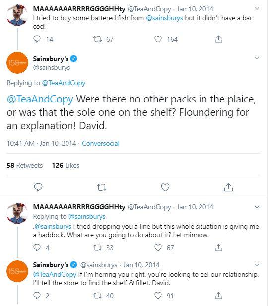 Sainsburys pun tweets