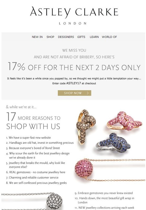 example of remarketing email