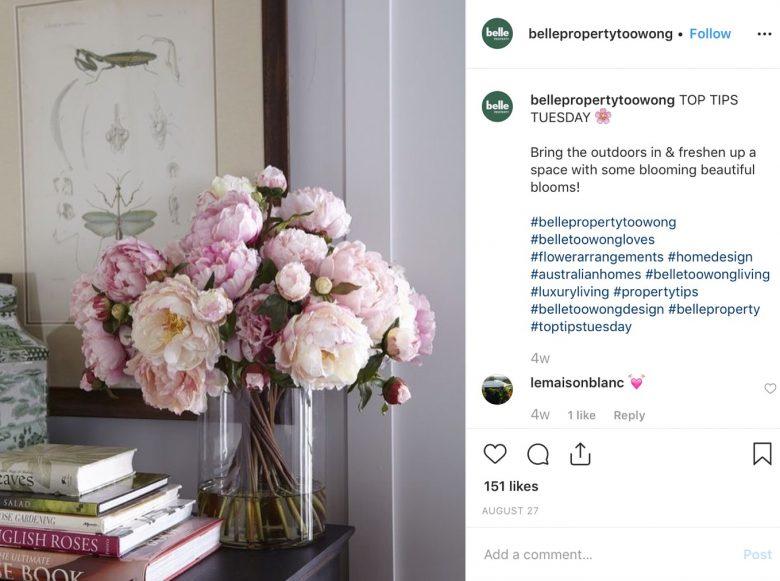 Belle Property Instagram