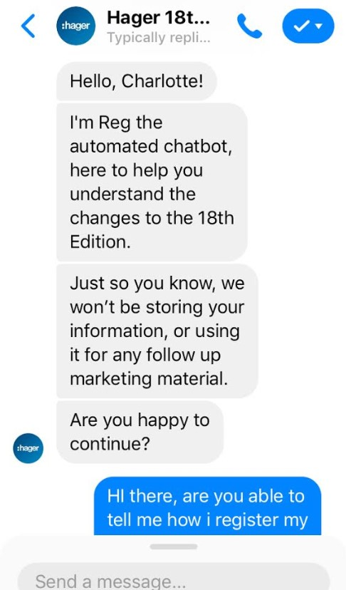 Facebook Messenger chatbot tool