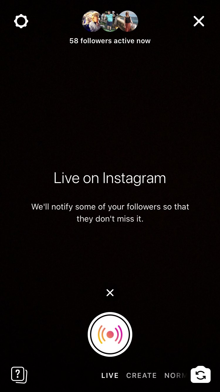 Instagram Live screenshot