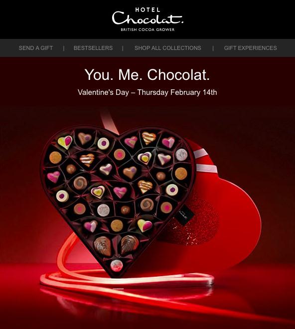 Hotel Chocolat Valentine's Day email