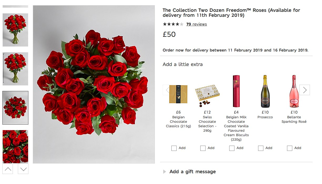 M&S roses product page
