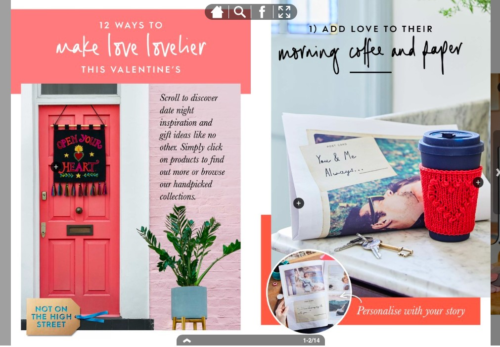 notonthehighstreet Valentine's Day campaign