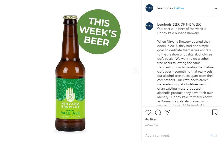 BeerBods Instagram post