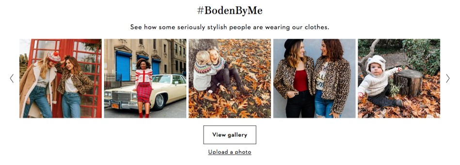 Boden By Me user-generated content example