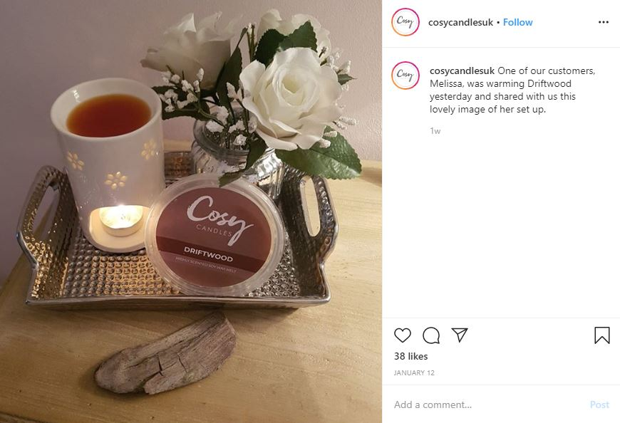 Cosy Candles Instagram