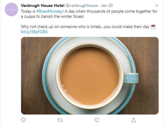Vanbrugh House Hotel Tweet