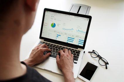 statistics shown on laptop screen