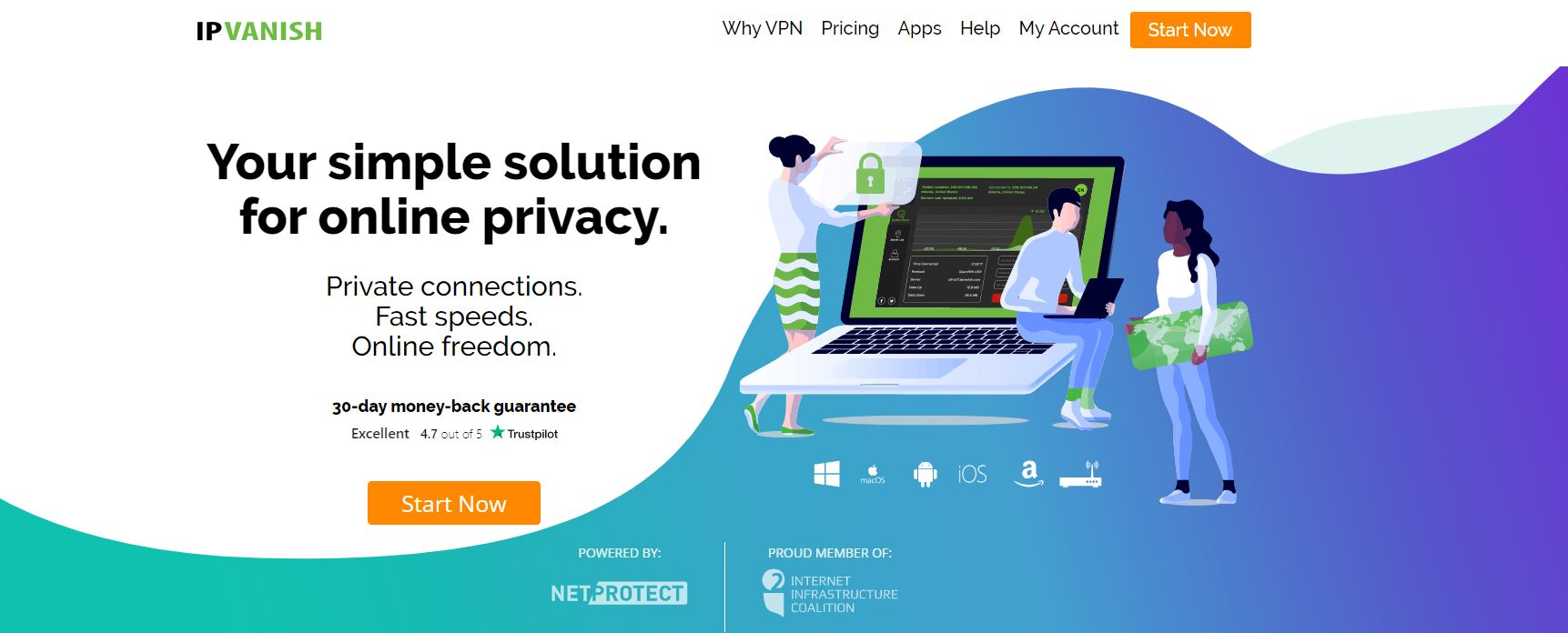 IPVanish VPN website