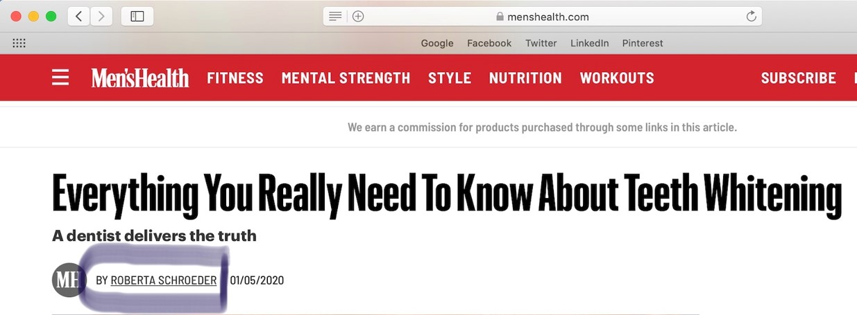 Men's Health article