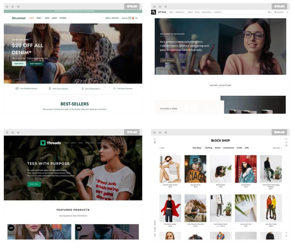 WooCommerce ecommerce templates