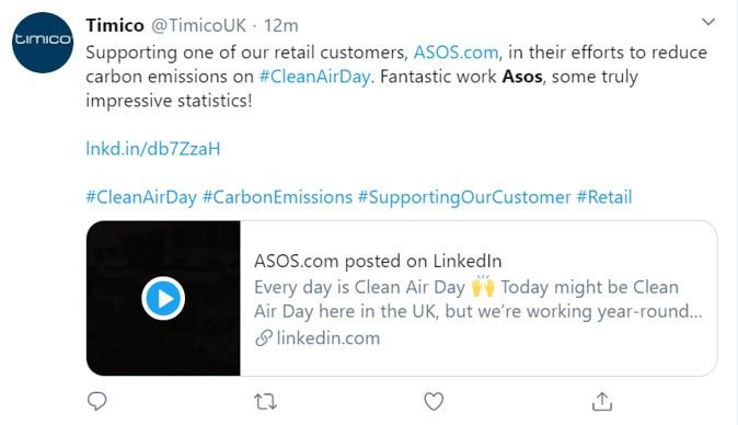 ASOS tweet example