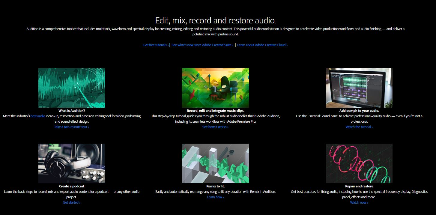 Adobe Audition software screenshot
