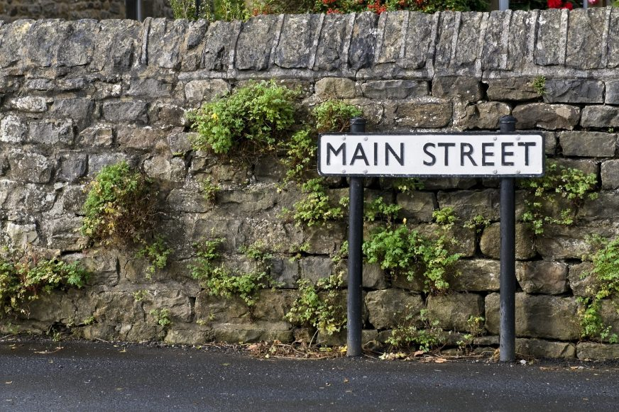 street sign saying 'Main StreeT'
