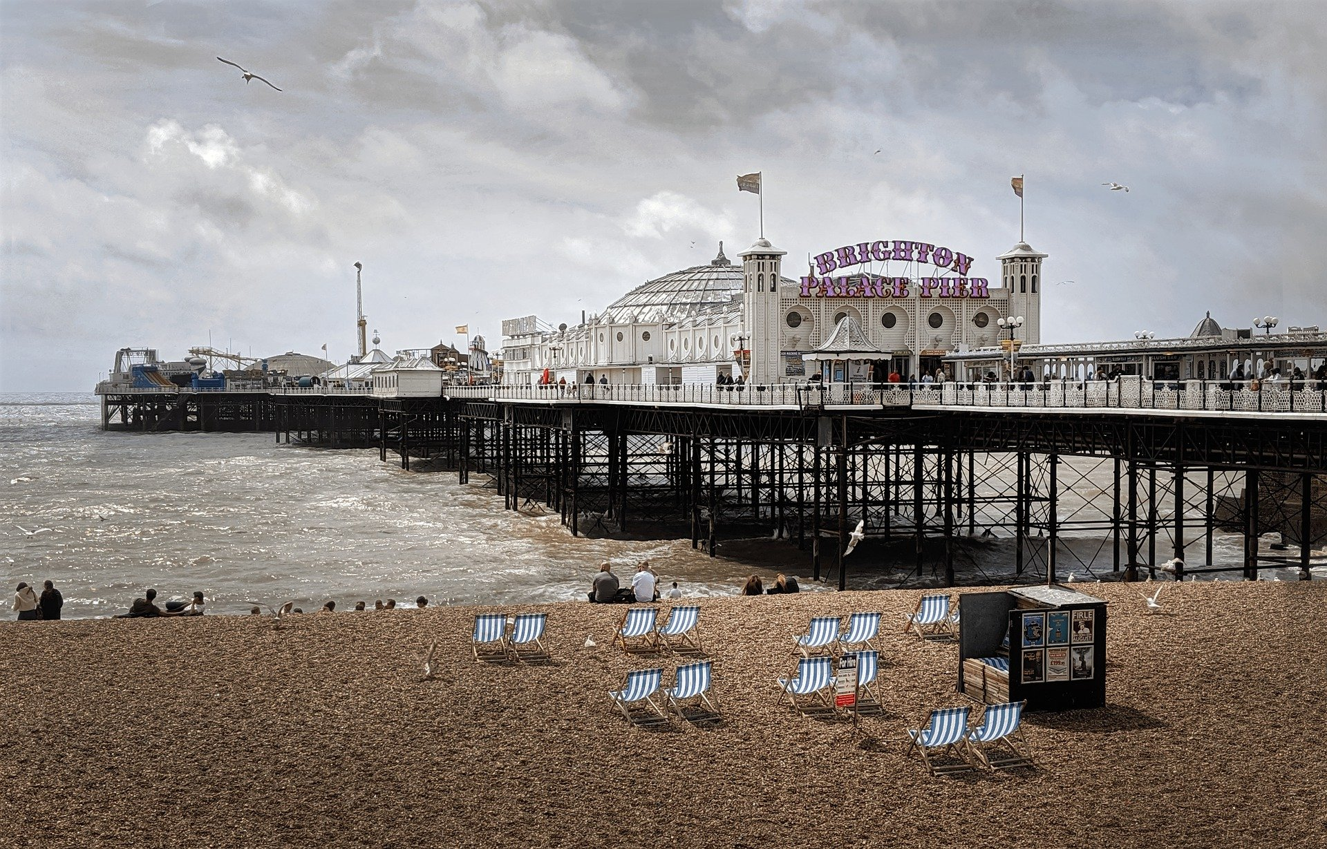 Brighton pier and pebble beach